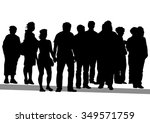 big crowds people on white... | Shutterstock . vector #349571759