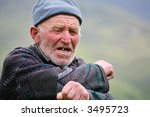 old grey haired man with... | Shutterstock . vector #3495723