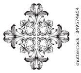 vintage baroque frame scroll... | Shutterstock .eps vector #349574654