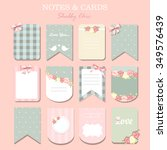 different note papers and... | Shutterstock .eps vector #349576439