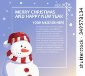 merry christmas and happy new... | Shutterstock .eps vector #349578134