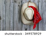 Cowboy Hat With Red Bandanna...