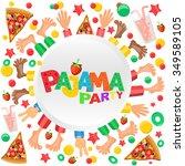 pajama party invitation card   Shutterstock . vector #349589105