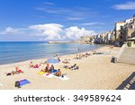cefalu  sicily  september 28 ... | Shutterstock . vector #349589624