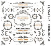 set of vintage decorations... | Shutterstock .eps vector #349590755