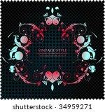 vector flower background | Shutterstock .eps vector #34959271