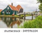 zaanse schans  netherlands  ... | Shutterstock . vector #349596104