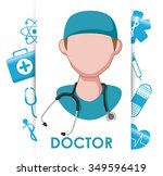 medical concept with healthy... | Shutterstock .eps vector #349596419