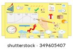 commercial calculation and... | Shutterstock . vector #349605407