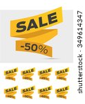 vector sale labels tags... | Shutterstock .eps vector #349614347