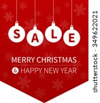 merry christmas sale promotion... | Shutterstock .eps vector #349622021