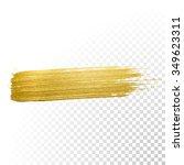 vector gold paint smear stroke... | Shutterstock .eps vector #349623311