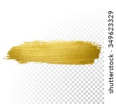 Vector Gold Paint Smear Stroke...