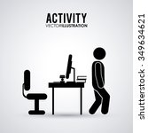 activity concept with pictogram ... | Shutterstock .eps vector #349634621