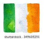 Irish Flag Painted With...