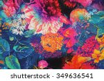 Stock photo textile flowers 349636541