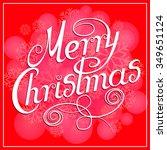 merry christmas background | Shutterstock .eps vector #349651124