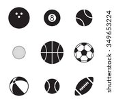 set of isolated icons on a... | Shutterstock .eps vector #349653224
