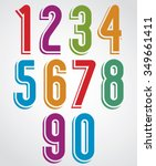 colorful vector numbers with... | Shutterstock .eps vector #349661411