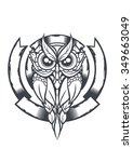 the emblem of the owl | Shutterstock .eps vector #349663049