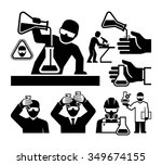 chemist and material scientist... | Shutterstock .eps vector #349674155