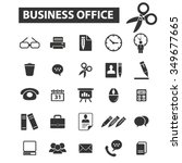 business office icons  signs...