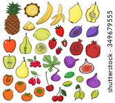 vector set of stylized fresh... | Shutterstock .eps vector #349679555