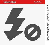 camera flash icon. professional ...