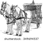 horse drawn carriage | Shutterstock .eps vector #349694537