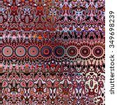 psychedelic repetetive shapes... | Shutterstock . vector #349698239