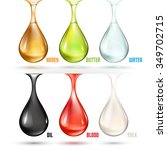 different drops | Shutterstock .eps vector #349702715