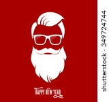santa claus hipster  party ... | Shutterstock .eps vector #349724744