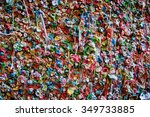 the gum wall in seattle makes a ... | Shutterstock . vector #349733885