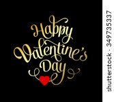 valentines card with lettering. ...   Shutterstock .eps vector #349735337