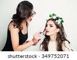 beautiful woman make up artist. ...   Shutterstock . vector #349752071