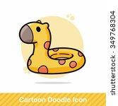 swim ring doodle | Shutterstock .eps vector #349768304