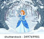 illustration of princess with... | Shutterstock .eps vector #349769981