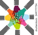 creative colorful teamwork... | Shutterstock .eps vector #349777754