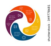 vector connected spiral... | Shutterstock .eps vector #349778681