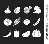 vegetables icon set. vector... | Shutterstock .eps vector #349783271