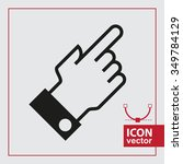 a simple icon with the index... | Shutterstock .eps vector #349784129