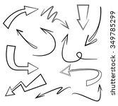 vector hand drawn arrows set | Shutterstock .eps vector #349785299