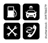 gas station service icons set | Shutterstock .eps vector #349786079