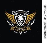 dark rider racer logo crests... | Shutterstock .eps vector #349793081