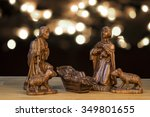 Christmas Scene With Figurines...