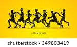 running  marathon designed... | Shutterstock .eps vector #349803419