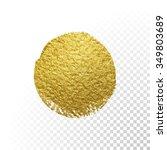 vector gold paint smear stroke... | Shutterstock .eps vector #349803689
