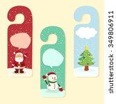 christmas theme door hanger... | Shutterstock .eps vector #349806911
