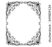 vintage baroque frame scroll...   Shutterstock .eps vector #349809134