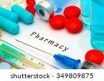 pharmacy   diagnosis written on ... | Shutterstock . vector #349809875